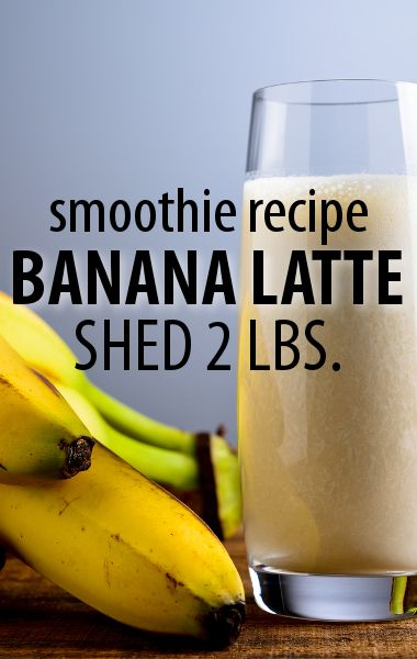 Banana Latte Smoothie Can Lose 2 LBS in One Week