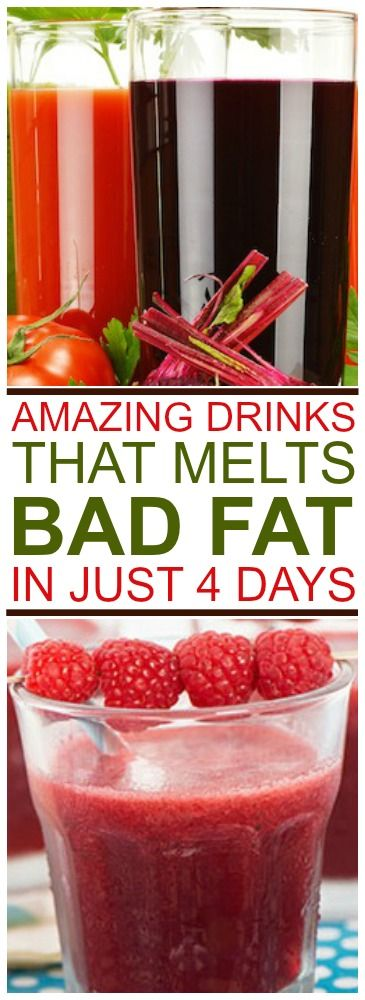 Amazing Drink That Melts Bad Fat In Only 4 Days