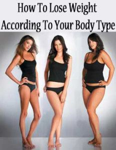 How to lose weight according to your body type.