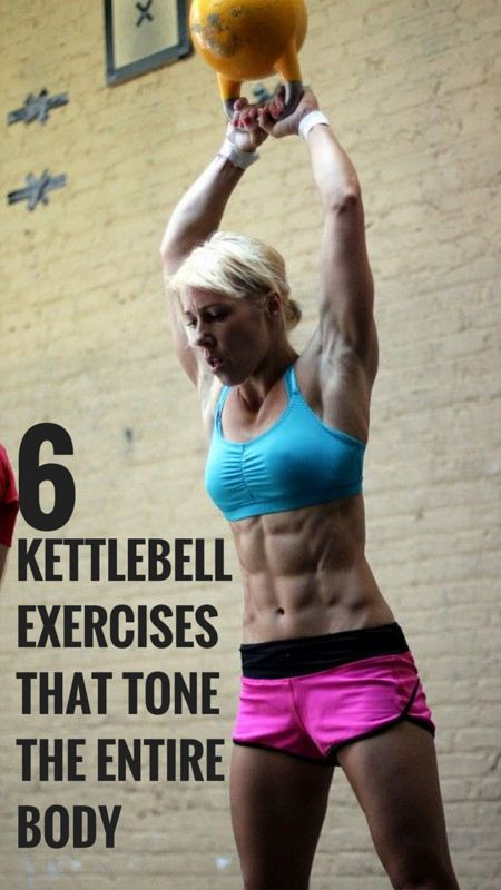 Only 6 kettlebell exercises for a full body workout