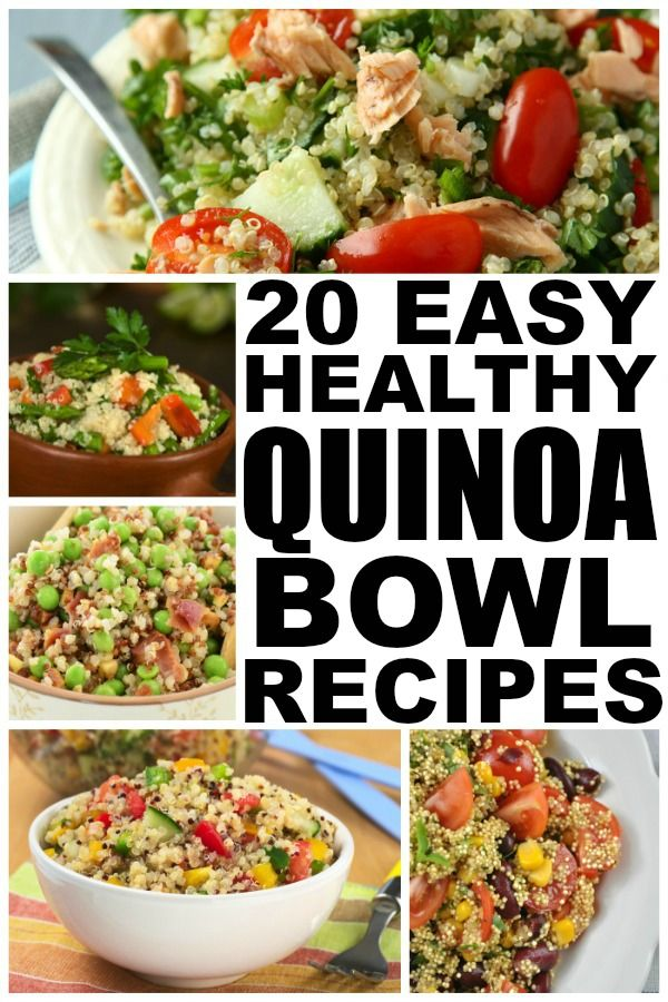 20 easy and healthy quinoa recipes