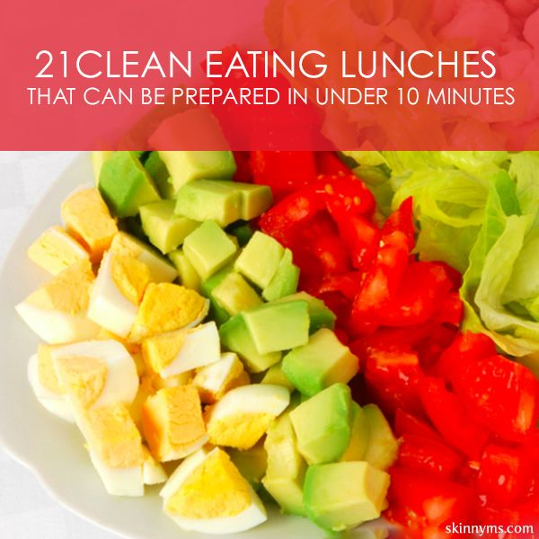 21 Clean Eating Lunches