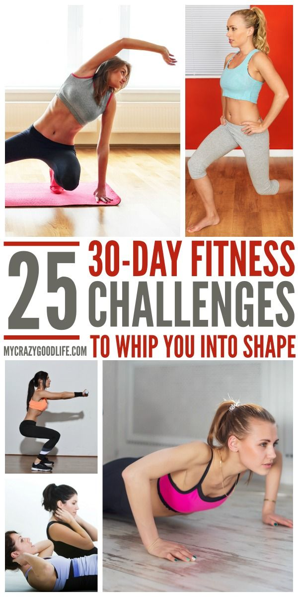 25 Motivating 30-Day Fitness Challenges