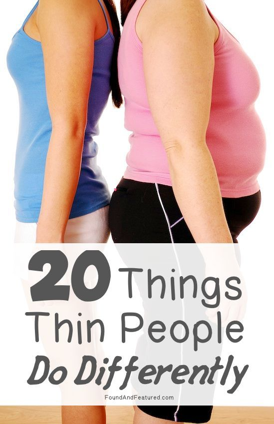 20 things thin people do differently