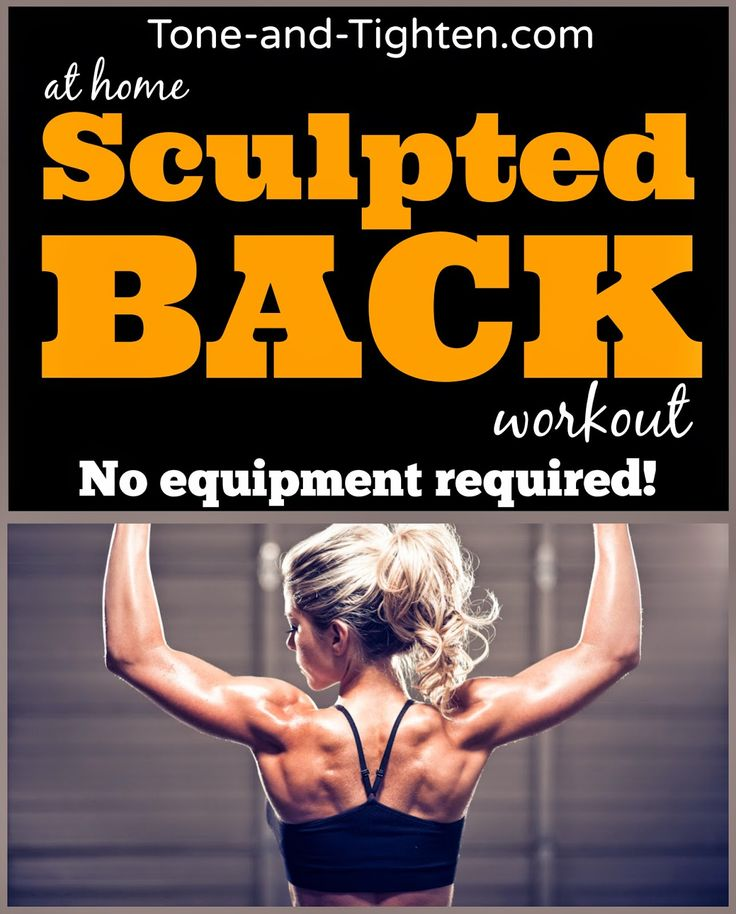 Sculpted back Workout At Home