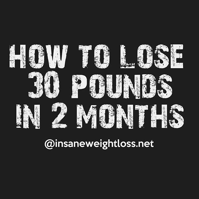 Effective ways to lose weight