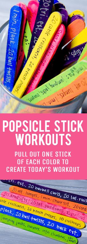 popsicle stick workout jar