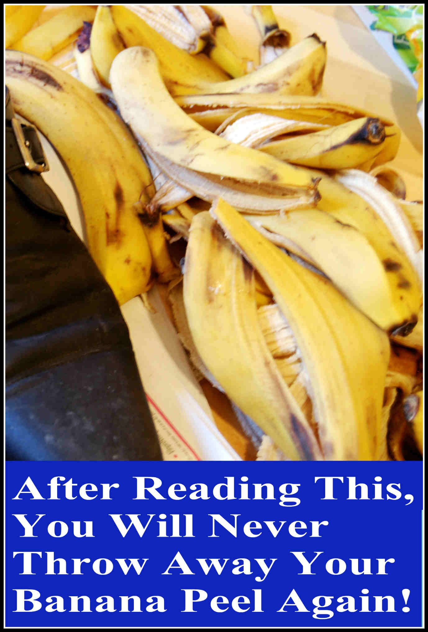 After Reading This, You Will Never Throw Away Your Banana Peel Again!