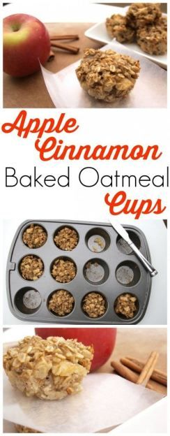 Apple Cinnamon Baked Oatmeal Cups are a perfect
