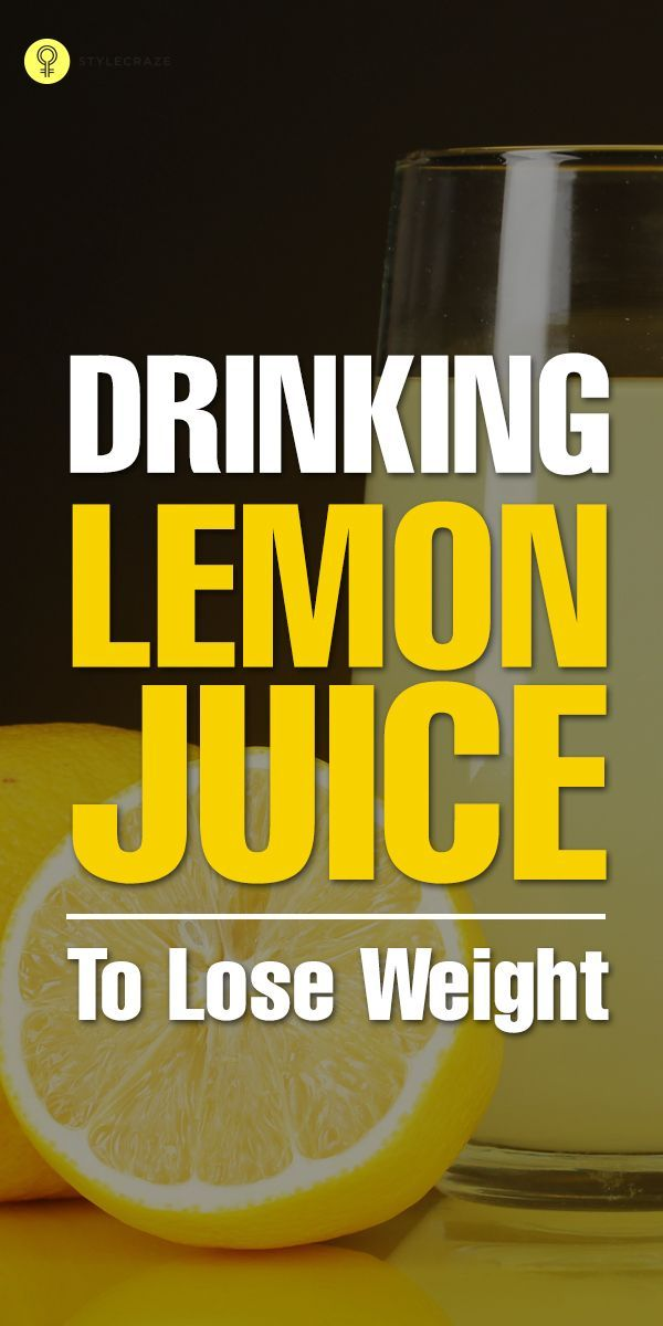 Drinking Lemon Juice Help You Lose Weight