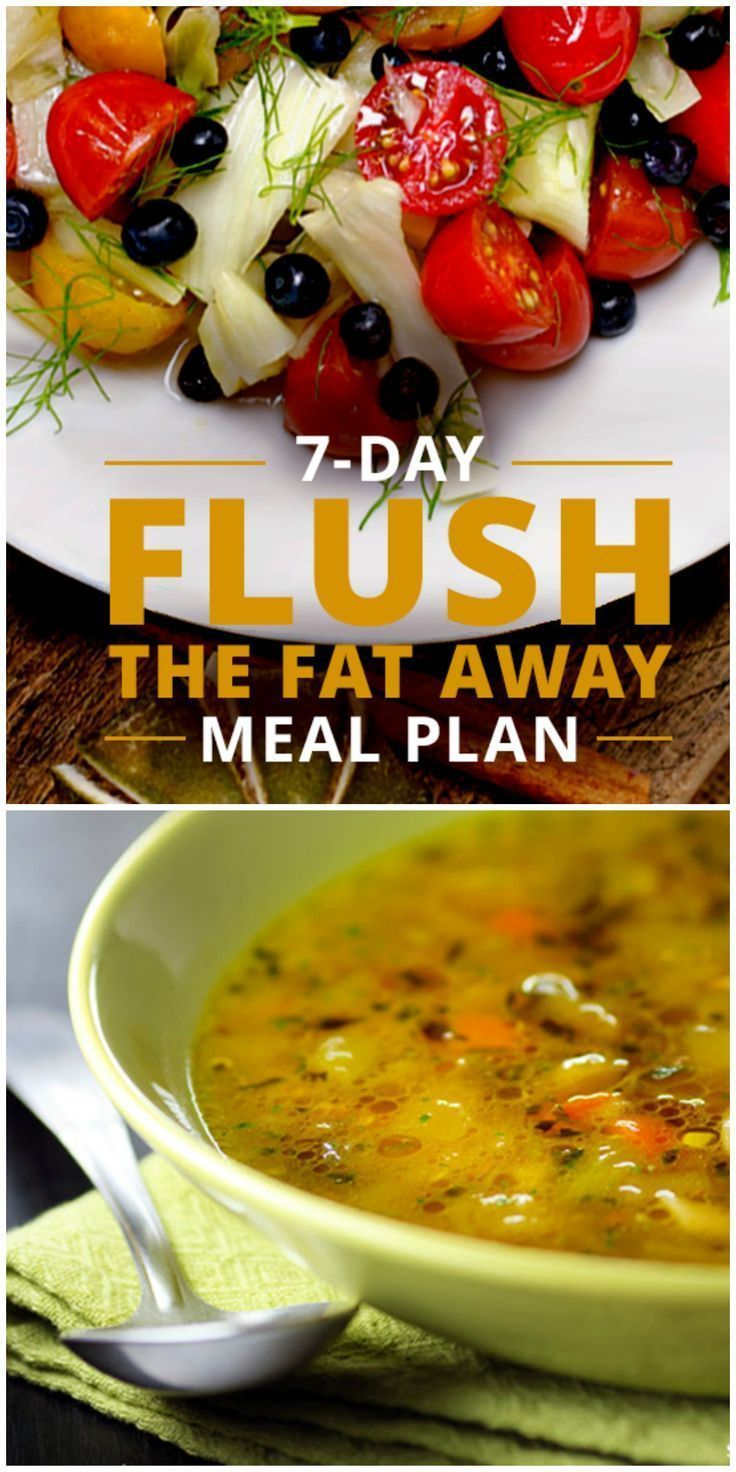 7-Day Flush The Fat Away Meal Plan