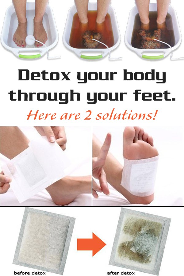 Detox your body through your feet. Here's the solution!