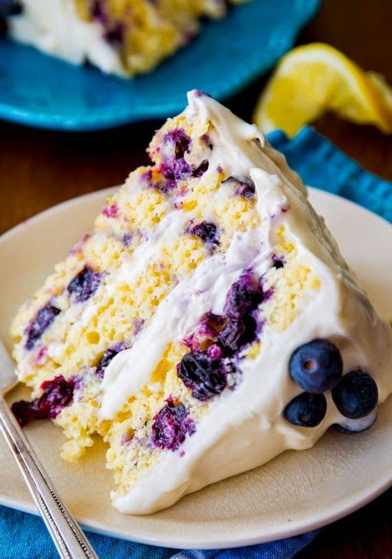 Lemon Blueberry Layer Cake 30 mins to prepare